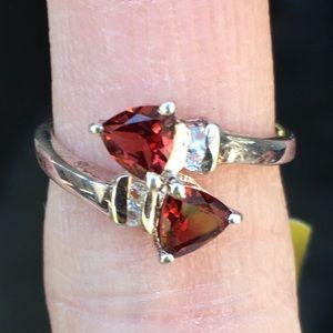 Unique NWT Sterling Garnet Ring